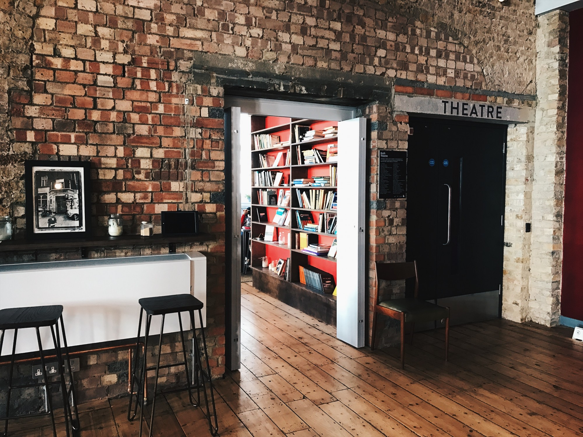 bush theatre reading room view jobs library