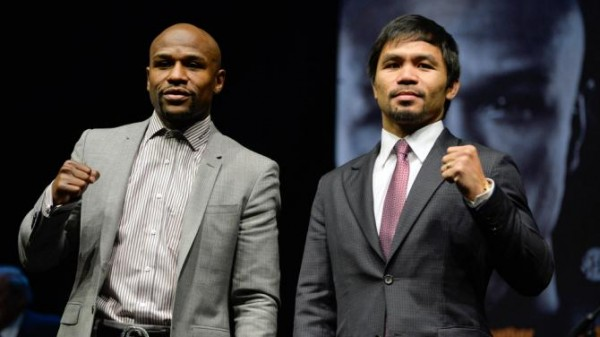 Mayweather & Pacquiao are set to fight on 2 May.