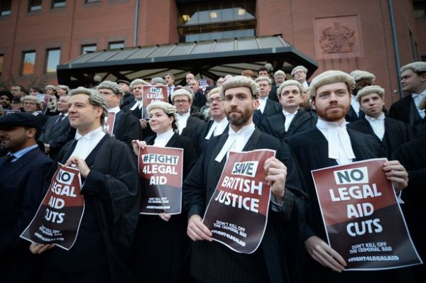 Barristers on strike