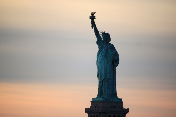 Statue Of Liberty New York United States Sunset