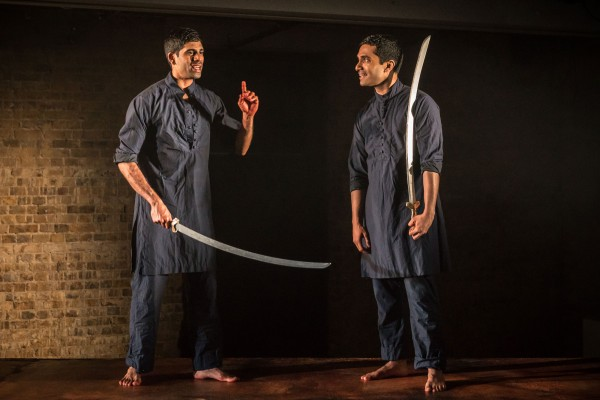 Danny Ashok and Darren Kuppan in Guards at the Taj. A Bush Theatre production. Photo: Marc Brenner