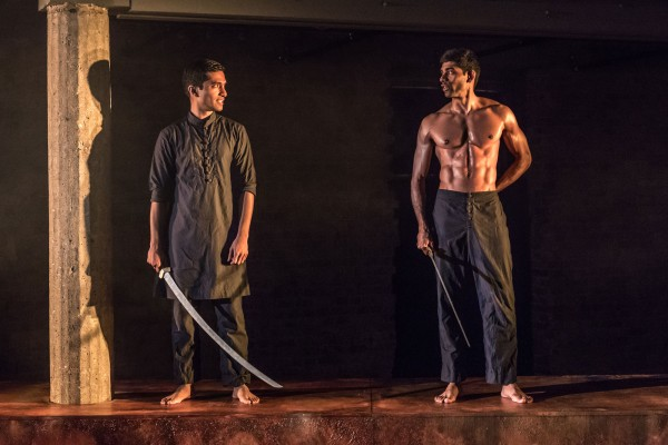 Danny Ashok and Darren Kuppan in Guards at the Taj at the Bush Theatre 2017