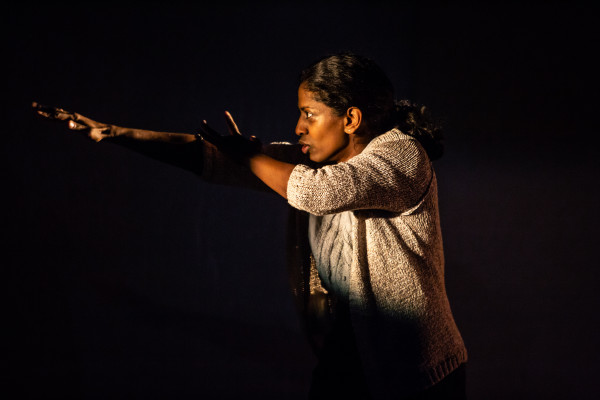 Nadia Nadarajah in Going Through. Photography by Ali Wright