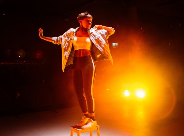 Seraphina Beh in Parliament Square at the Bush Theatre. Photo: Helen Murray
