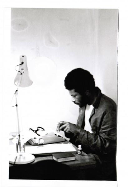 Caryl writing Strange Fruit in 1979
