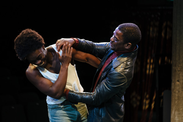 Jonathan Ajayi and Tok Stephen as brothers Errol and Alvin in Strange Fruit at the Bush Theatre © Helen Murray